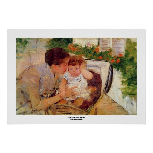Maria Cassatt.1881.Susan que conforta la impresión Posters