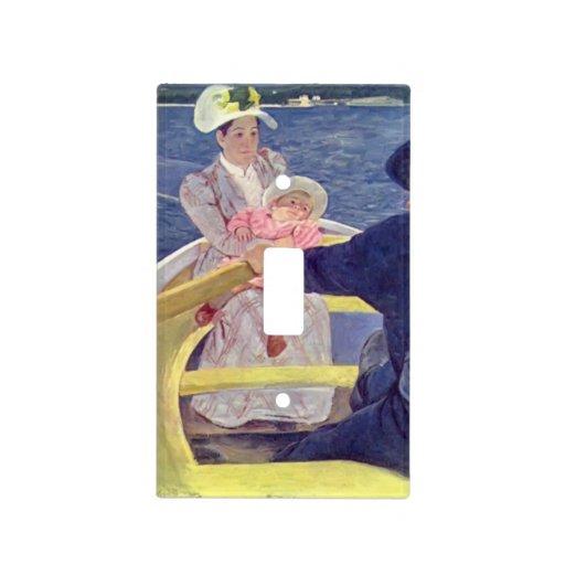 Maria Cassatt- el fiesta del canotaje Cubierta Para Interruptor