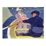 Maria Cassatt- el fiesta del canotaje Tarjetas Postales