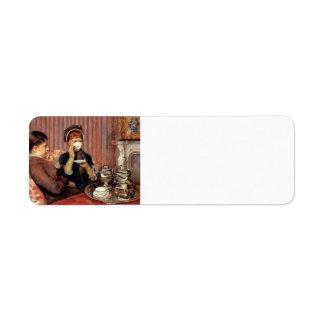 Maria Cassatt- el té Etiquetas De Remite