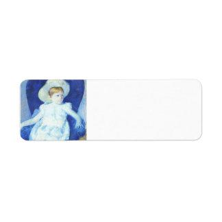 Maria Cassatt- Elsie en una silla azul Etiqueta De Remite