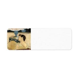 Maria Cassatt- la lámpara Etiquetas De Remite