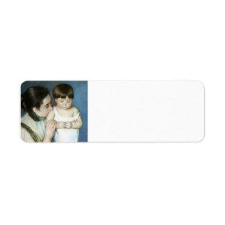 Maria Cassatt- Thomas joven y su madre Etiqueta De Remite