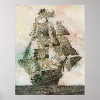 Maria Celeste - arte del vintage Póster