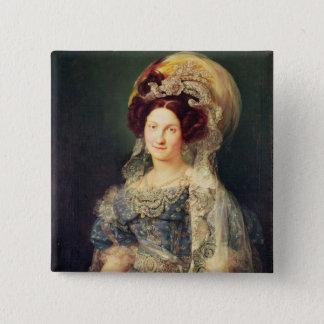 Maria Christina de Bourbon Button