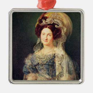 Maria Christina de Bourbon Metal Ornament