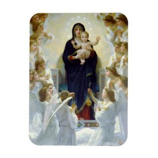 Maria con ángeles - Regina Angelorum Iman Rectangular