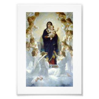 Maria con ángeles - Regina Angelorum Impresión Fotográfica