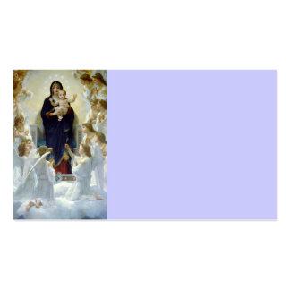Maria con ángeles - Regina Angelorum Tarjetas De Visita