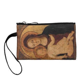 Maria con el bebé Jesús debajo del arco