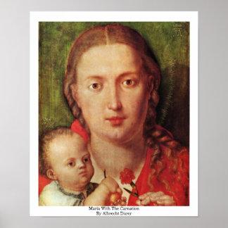 Maria con el clavel de Albrecht Dürer Impresiones