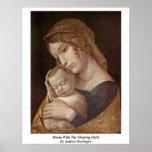 Maria con el niño durmiente de Andrea Mantegna Poster