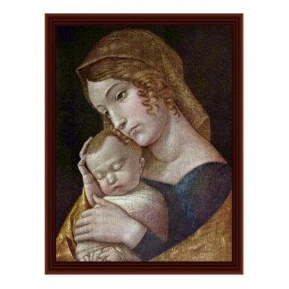 Maria con el niño durmiente de Andrea Mantegna Postal