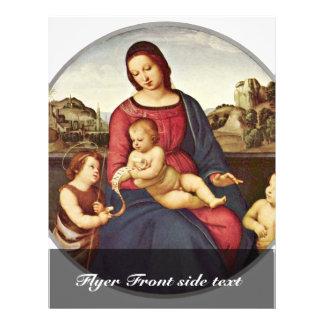 """Maria con el niño y dos santos Tondo de Cristo Folleto 8.5"""" X 11"""""""