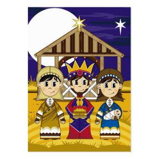 Maria con José y rey Bookmark Tarjetas De Visita Grandes