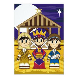 """Maria con la tarjeta de José y de rey RSVP Invitación 3.5"""" X 5"""""""