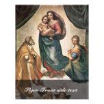 Maria con papa Sixtus del St. del niño de Cristo Folleto 21,6 X 28 Cm