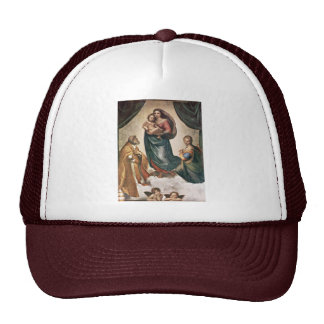 Maria con papa Sixtus del St. del niño de Cristo Gorro De Camionero