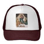 Maria con papa Sixtus del St. del niño de Cristo I Gorros Bordados