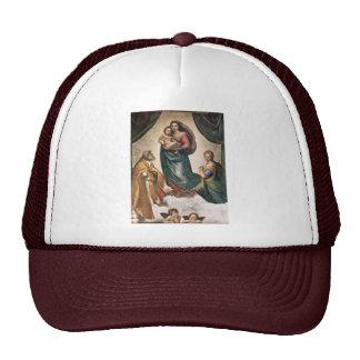 Maria con papa Sixtus del St del niño de Cristo I Gorros Bordados