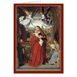 Maria coronó por los ángeles - tarjeta de Navidad