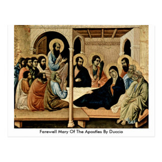 Maria de despedida de los apóstoles por Duccio Tarjetas Postales