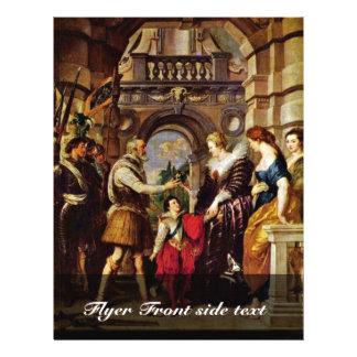 Maria De Medici es regente de Francia de Rubens Tarjetón
