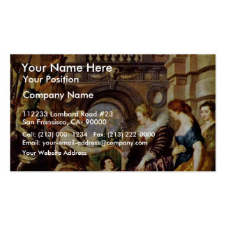 Maria De' Medici Is Regent Of France By Rubens Business Card Template