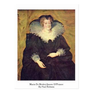 Maria De Medici Queen Of France By Paul Rubens Post Card