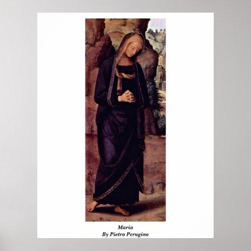 Maria de Pedro Perugino Poster