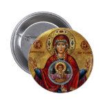 Maria del siglo XV icónica con el niño de Cristo Pins