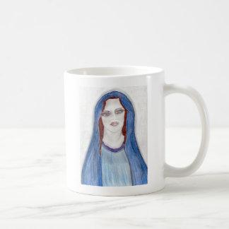 Maria en azul tazas