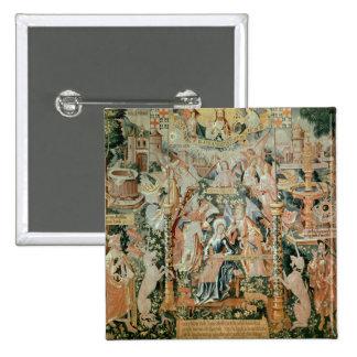 Maria en el templo, escenas a partir de la vida de pin cuadrado