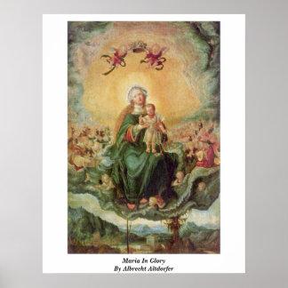 Maria en gloria de Albrecht Altdorfer Impresiones