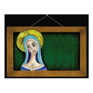 Maria en marco tarjetas postales