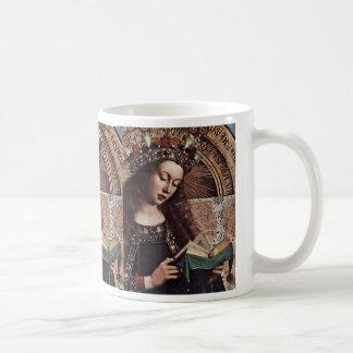 Maria Enthroned el detalle de Eyck Huberto Van (el Taza