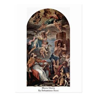 Maria Gloria By Sebastiano Ricci Post Card