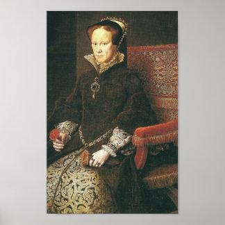 """Maria I de Inglaterra """"bloody mary """" Póster"""