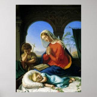 Maria, Jesús, y poster de San Juan Bautista