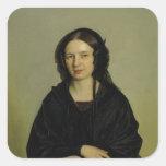 Maria Kramer, 1845 Pegatina Cuadrada