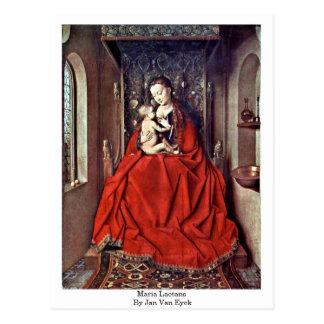 Maria Lactans By Jan Van Eyck Postcard