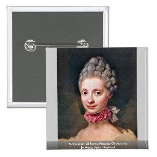 Maria Luisa Of Parma Princess Of Asturias Pinback Buttons