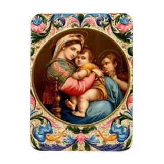 Maria Madonna y el niño Jesús Imanes Flexibles