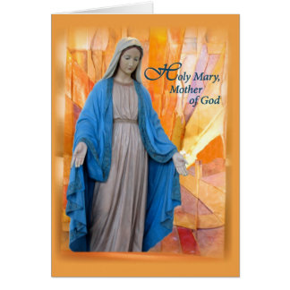 Maria, madre de dios, paz tarjeta de felicitación