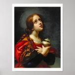 Maria Magdalena, 1660-70 (aceite en lona) Poster