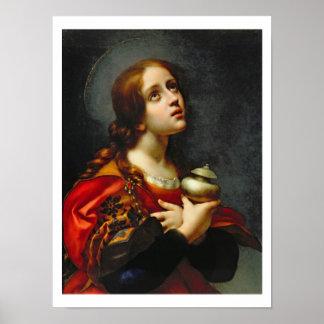Maria Magdalena, 1660-70 (aceite en lona) Póster