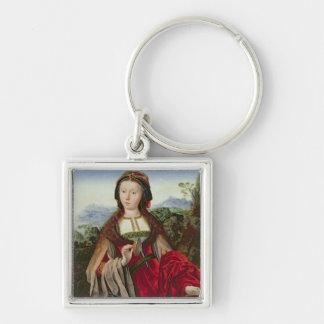 Maria Magdalena, c.1520-25 Llavero Cuadrado Plateado