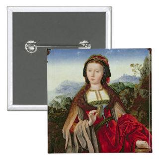 Maria Magdalena, c.1520-25 Pin Cuadrada 5 Cm