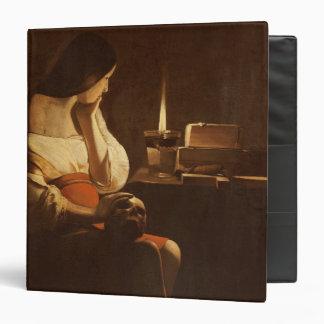 """Maria Magdalena con una luz de la noche, 1630-35 Carpeta 1 1/2"""""""