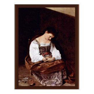 Maria Magdalena de Miguel Ángel Merisi DA Caravagg Tarjetas Postales